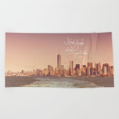 NEW YORK NEW YORK Beach Towel