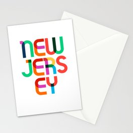 New Jersey State Mid Century, Pop Art Mondrian Stationery Cards
