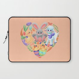 Easter Collage Heart Laptop Sleeve