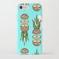 pinapple iPhone & iPod Cases featuring Eat pineapples by Jan Luzar