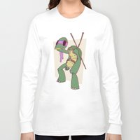 ninja turtle Long Sleeve T-shirts featuring Teenage Mutant Ninja Turtle by Déoz Woorld