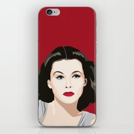 Hedy Lamarr portrait iPhone Skin