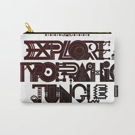 Explore The Typographic Jungle Carry-All Pouch