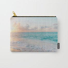 Beautiful tropical turquoise sandy beach photo Carry-All Pouch