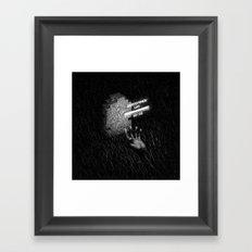 Drawlloween 2016: 8-bit Zombie Framed Art Print