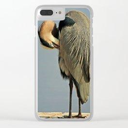 Heron Having a Bath II Clear iPhone Case