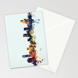 Grand Rapids Michigan Skyline Stationery Cards