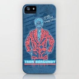 Tron Burgundy iPhone Case