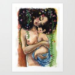 Klimt2: Mother and Child Art Print