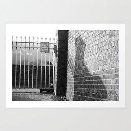 Railway Cat Black & White Art Print