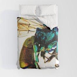Multi-colored Cuckoo Wasp Portrait #2 Comforters