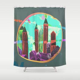 Castles Through The Emotional Windows Shower Curtain