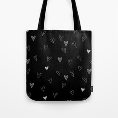 Ink hearts pattern 2 Tote Bag