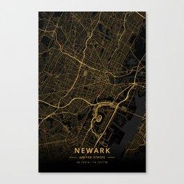Newark, United States - Gold Canvas Print