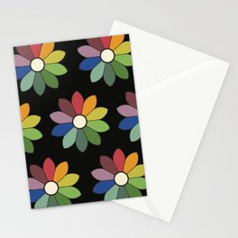 Flower pattern based on James Ward's Chromatic Circle (vintage wash) Stationery Cards