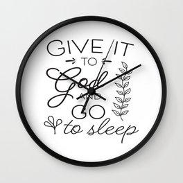 Prayer Jesus Faith Bible Psalm Gift Wall Clock