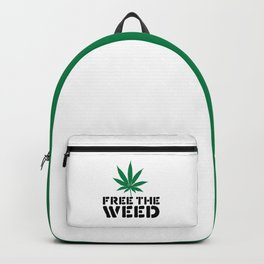 Free The Weed Quote Backpack