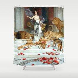 Wright Barker Circe Nyph Goddess Of Magic Witch Enchantress Turn Men Into Animals Shower Curtain