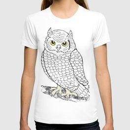 Cute Owl by Ines Zgonc T-shirt