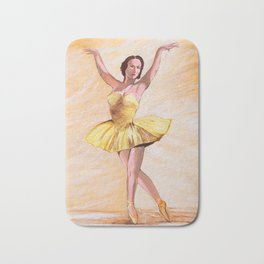 Ballerina star Bath Mat