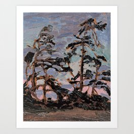 Tom Thomson ‑ Evening, Pine Island - Canada, Canadian Oil Painting - Group of Seven Art Print