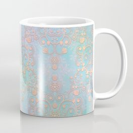 Pastel Bohemian Style Multicolored Ornate Damask Pattern Coffee Mug