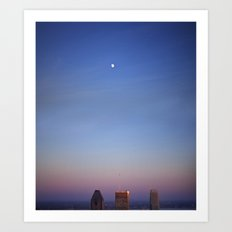 7pm moon Art Print