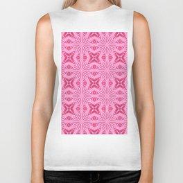 Bubblegum Pink Flower Cross Design Biker Tank