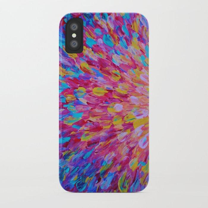 SPLASH, Revisited - Bold Beautiful Feminine Romance Ocean Beach Waves Magenta Plum Turquoise Crimson iPhone Case