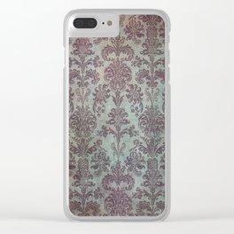 Damask Vintage Pattern 12 Clear iPhone Case