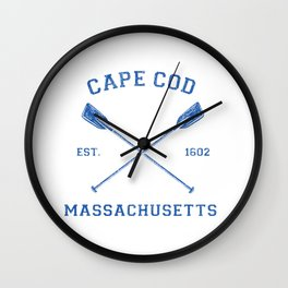 Womens Vintage Cape Cod Vacation V-Neck Gift Wall Clock
