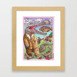 Food chain Framed Art Print
