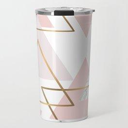Pink ang Marble Triangle Travel Mug