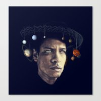 bruno mars Canvas Prints featuring BRUNO MARS by Itterdome