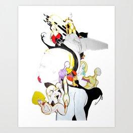 AROUND MY MIND Art Print