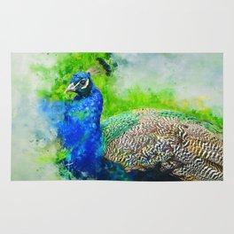 Painted Peacock Rug