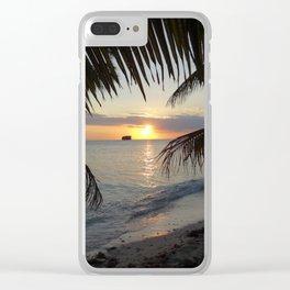 Caribbean Sunrise Clear iPhone Case