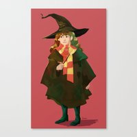 hermione Canvas Prints featuring Hermione by hijinxx