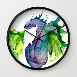 Wildfire Water Dragon Wall Clock