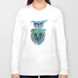 Owl and Bear Totem Long Sleeve T-shirt