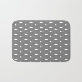 Tiny Subs - Gray Bath Mat