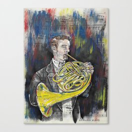 French Horn 1 Canvas Print