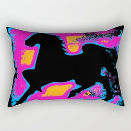 Colorful Western-style Horse Silhouette Rectangular Pillow