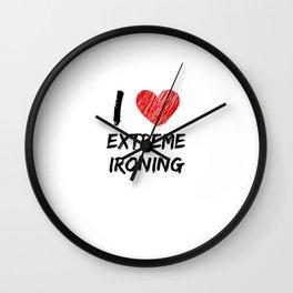 I Love Extreme Ironing Wall Clock