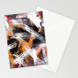 Abs orange black and white Stationery Cards