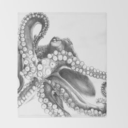 Giant Octopus Throw Blanket