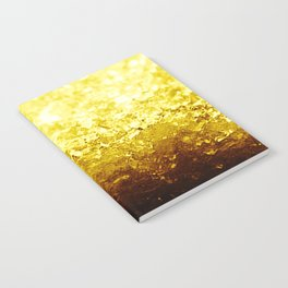 Golden Yellow Ombre Crystals Notebook
