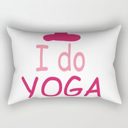 I do YOGA What's your SUPERPOWER Rectangular Pillow