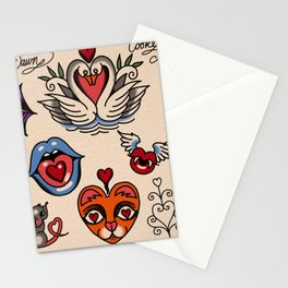 hearts and more hearts Stationery Cards