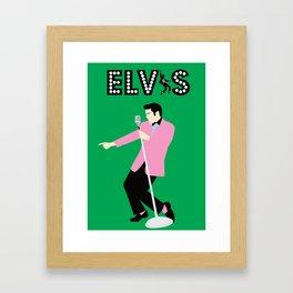 The King (Green) Framed Art Print